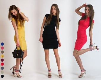 New!!! Spring 2017 Tight elegant dress / Casual dresess / Dresses for Woman / Short dress / Lycra dress / Colorful Clothing / Party Dress