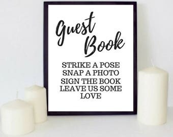 Photo Guest Book Sign. Instant Photo Guest Book Sign. Photo booth Sign. Photo Booth Sign Printable. Wedding Photo Booth Sign. Wedding Signs