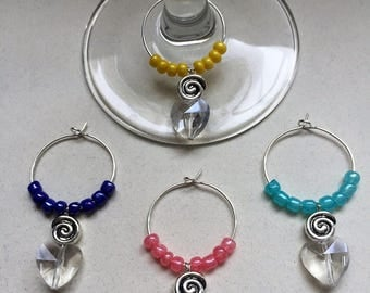 Swirl Wine Charms