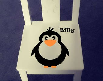 Personalized kids chair - Penguin