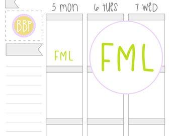 Multicolour FML Stickers (035)