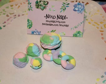 Rainbow Miniature Clay Food