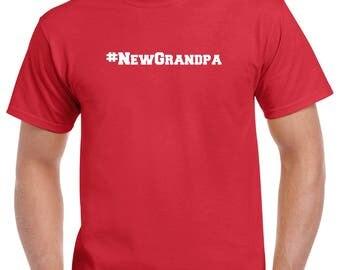 New Grandpa Shirt- #NewGrandpa Tshirt- Gift for New Grandpa