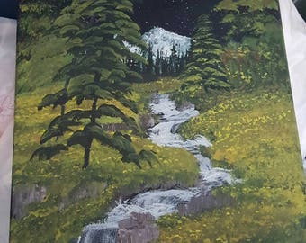 Shooting star at the stream, original work
