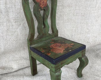 wooden hand painted  small chair