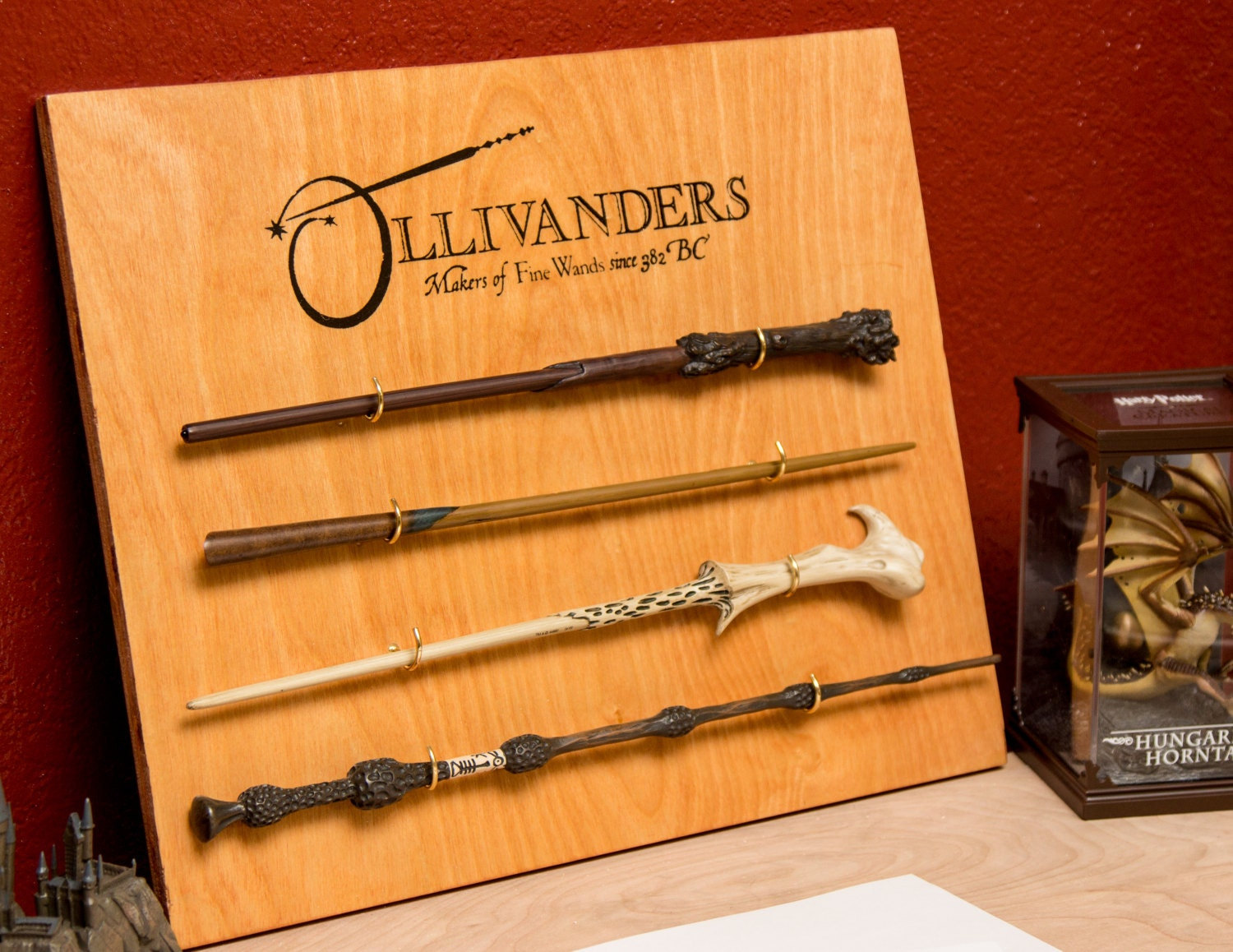 ollivanders wand display holder harry potter custom orders. Black Bedroom Furniture Sets. Home Design Ideas