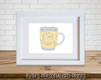 ANY SHAPE Personalised Framed Print 10x8""