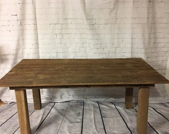 "Vintage Barnwood Dining Table. 41"" W X 72"" L. Bench Sold Seperately."