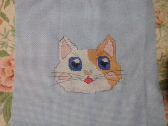Patches the cat cross stitch pattern