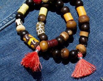 Bohemian Natural Ebony Bracelet