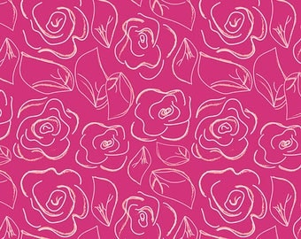 Let's Chalk Joyful - Pink Floral // Art Gallery Fabric //