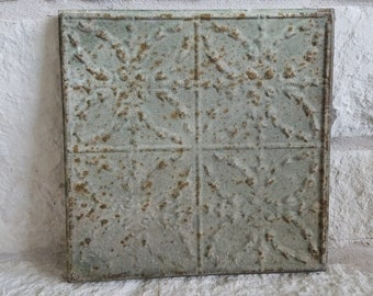 Antique Green Tin Ceiling Tile