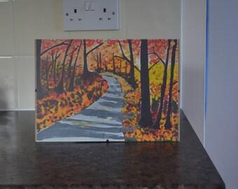 Autumn scene with trees