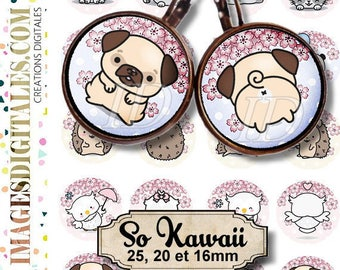SO KAWAII ID 1 id Digital Collage Sheet Printable Instant Download for art jewelry scrapbooking bottle caps magnets pins
