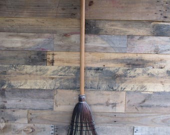 Black, brown and grey broom