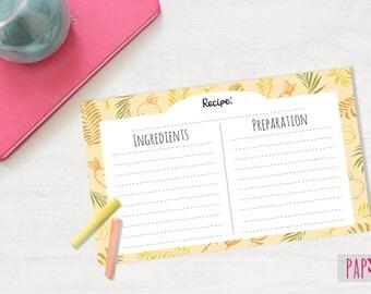 Recipe Card Template | recipe cards, blank recipe card, recipe card printable, recipe card 6 x 4, printable recipe, recipe template