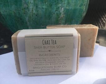 Chai Tea Soap - 100% Natural, Aromatherapy Soap, Handmade bar soap, cold process, facial soap, palm-free