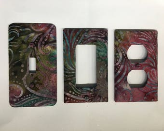 Fabric covered switchplates
