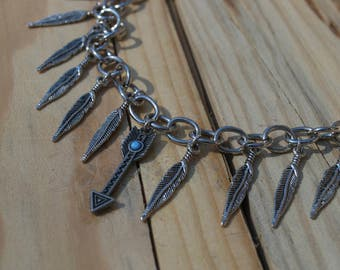 Feather and Arrow Bracelet