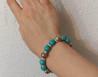 Turquoise Blue Sparkly Bracelet