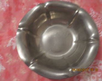 Vintage Reed and Barton P601 Pewter Flower Bowl -