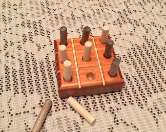 Handmade Wooden Tic-Tac-Toe Game