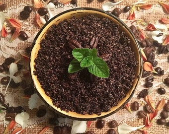 Renewing Organic Coffee Scrub~ Salt Scrub~ 15 oz. Coffee Scrub~ Essential Oil
