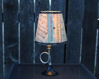 Musical lamp and shade