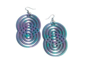 Multi circles colorful earrings