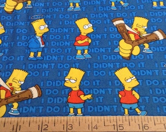 Bart Simpson cotton fabric by the yard