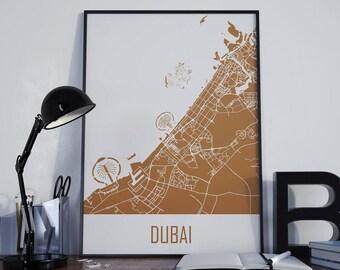 Dubai City Map Dubai Map Dubai Street Map Dubai Map Poster Dubai Travel Map Dubai Map Photo Dubai Map Print Dubai Map Art Dubai Wall Art