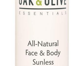 Oak & Olive Essentials All-Natural Face and Body Sunless Tanning Lotion - Medium Formulation