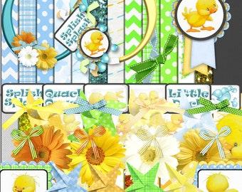 Ducks and Daisies Digital Scrapbook Kit