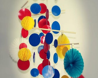 Baby Mobile: Red, Yellow & Blue