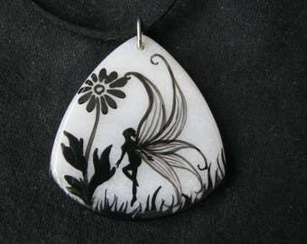 Fairy/Mermaid white jade pendant