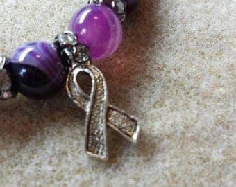 Semi precious stones and swarovski bracelet
