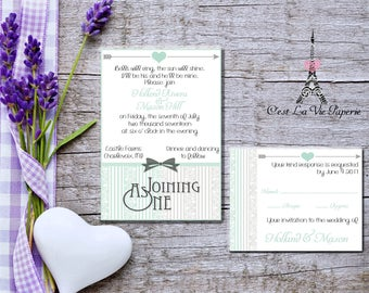 Joining As One Wedding Invitation Suite