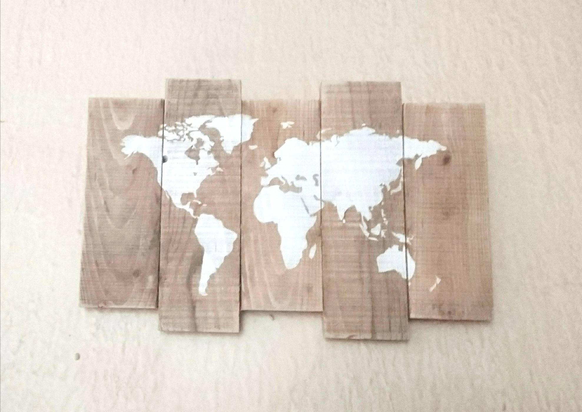 tableau carte du monde palette mappemonde palette carte du. Black Bedroom Furniture Sets. Home Design Ideas