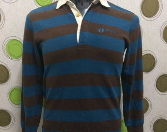 Vintage 90' Hang Ten Long Sleeve Rugby Polo Sport