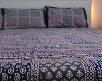 Purple Printed Flat Sheet