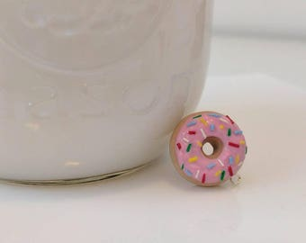 The Simpsons polymer clay, Donut charm, polymer clay, Classic donut, miniature food