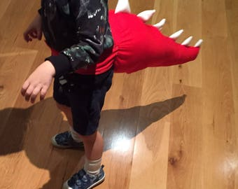 Limited Edition Red and White Dinosaur Tail