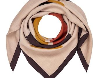 DOOJ / handwoven scarf, block print scarf, handmade scarf, mara vera scarf, eco-friendly scarf
