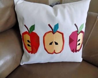 Apple Trio Toss Pillow Cover