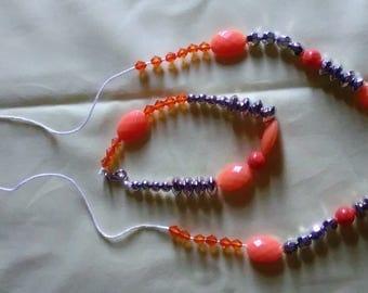 Fierce  Orange and Silver Jewelry