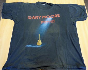 Gary Moore With the Midnight Blues Band - Still got the blues Tour t shirt 1990