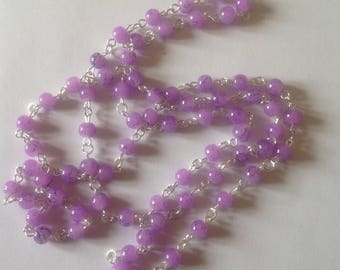 Long lilac necklace Flapper necklace beaded necklace handmade necklace long necklace