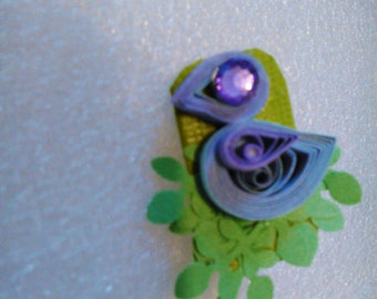 Hand Quilled Brooch - Joanna