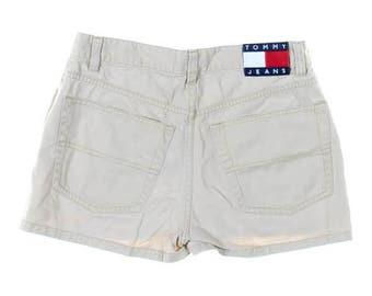 Women's Vintage 90s Tommy Hilfiger Jeans Sz 5 Khaki Shorts