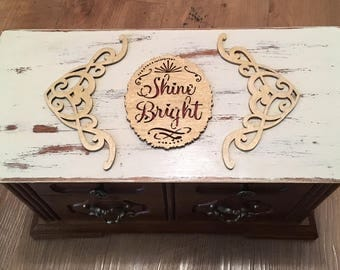 "Upcycled ""Shine Bright"" Vintage Jewelry / Music Box"